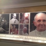 Pope exhibit. Even the rarely seen Pope John Paul I is here