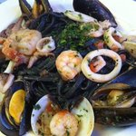 Black Squid ink Linquini Pescatore