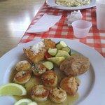 scallops and pathetic potato