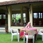 Particolare del giardino interno al Planet Bhaktapur