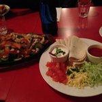 Share plate of fajitas... delicious!