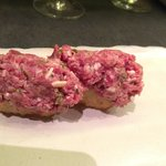 Niguiri de steak tartar
