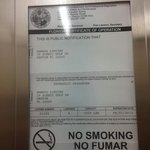 elevator certification expired 8/2012 and this is july 2013