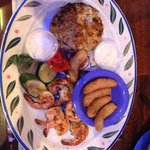 Maryland crab cake and grilled shrimp