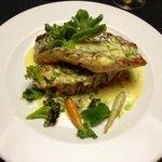 Piatto di pesce bianco