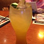 Ice Sparking ginger Tea with Mango Flavor Syrup
