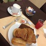 La colazione nel ristorante