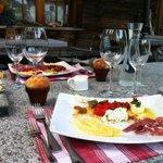 Dinner entrée at Casa da Luzi