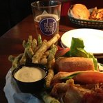 The Pub Sandwich and a local brew. What could be better?