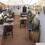 Our lovely shady Andalusian terrace