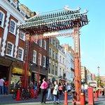 China town gate.