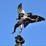 Eros statue at piccadilly circus.