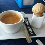 lovely coffee and ice cream.