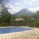 View from the pool of Arenal volcano.