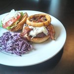 Boardroom burger w/house made slaw