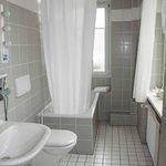 Large & well lit bathroom