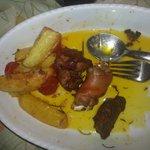quello che è rimasto della porchetta con patate
