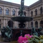 Fountain in the interior court behind the Rathaus