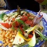 spécial ce jour la oeuf béné avec 1/2 homard
