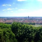 View of Lyon from Basilique Notre Dame de Fourviere