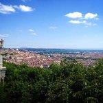 View of Lyon from Basilique Notre Dame de Fourviere