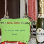 Welcome sparkling wine