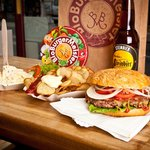 organic burgers, organic beer - that fits !