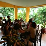 Dining on the terrace with friends - best in Boquete