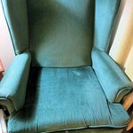 Chair in Room 311, older and worn