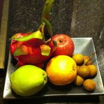Fruit plate compliments of hotel for hosting a small event on 16 June