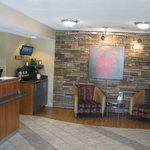 Reception Area, Red Roof Inn, Utica, NY.