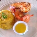 House specialty,  grilled lobster & shrimp