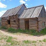 A log cabin, furnished inside