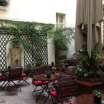 Courtyard at the Hotel D'Aubusson