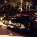 vintage car at the entrance, I loved it.