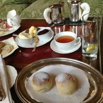 Scone and tea at Inverlochy Castle Hotel (part of light lunch)