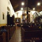 Interior del Santuario del Cristo Negro de Portobelo.