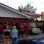 The Line for Ice Cream on a July Sunday night in Delphos.