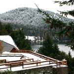 Invierno en Bariloche desde la terraza del Hotel