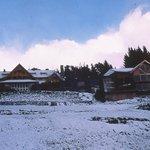 El parque nevado del Hotel