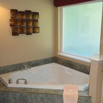 In-suite Jacuzzi tub