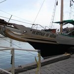 Their Beautiful Wooden Long Boat