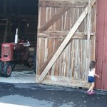 Opening the big barn door.