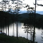 Dewey lake at sunset, picture taken from the patio at the restaurant