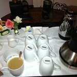Morning coffee/tea service outside our room at 7:30 AM