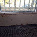 Rusted balcony door