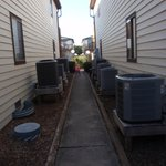 alley outside bedroom window - 12 A/C units!