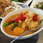 Mango Curry with Phad Thai in the background