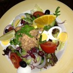 Salad of tuna fish, eggs & beans