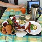 Breakfast day one ( great bacon)